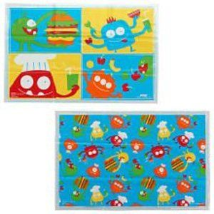 NWT Babies R Us 24 Disposable Placemats Monster